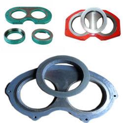 Pompe à béton pièces de rechange plaque d'usure et la bague coupante