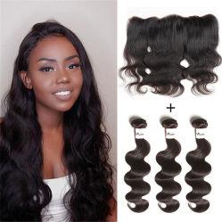 La calidad de la parte superior frontal de encaje Color de cabello natural humano virgen