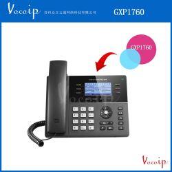 Grandstream Gxp1760の中間激怒IPの電話