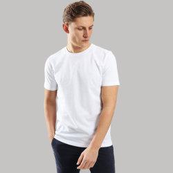 Slim-Fit algodão orgânico unissexo camisetas com logotipo pessoais