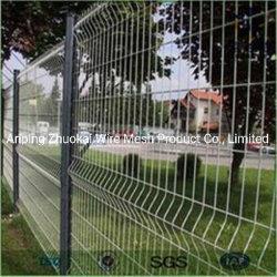 Hot-Dipped Treillis soudés en acier galvanisé avec panneau de clôture de la courbe