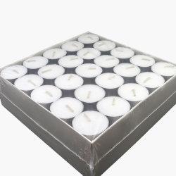 50 PCS Granel Tealight brancos tipo vela de cera de parafina no saco