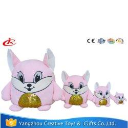 Rose Fox paillettes oreillers pour Hug un jouet en peluche