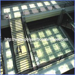 UV-protégés par le couvercle en polycarbonate Co-Extrusion mètre