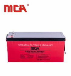 Qualidade superior de 12 V 200 Ah Bateria solar de alta temperatura