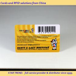 Rabatt! Kostenlose Proben Promotion Plastikkarten mit Barcode