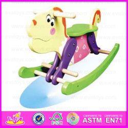 2015 Lindo caballito de madera para niños, juguetes de madera juguete tradicional Caballito, hermosa caja de juguetes Wjy ecológica paseos a caballo-8105