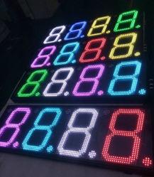 Vert pur Mini prix du gaz 7 Segments LED changeur d'affichage numérique