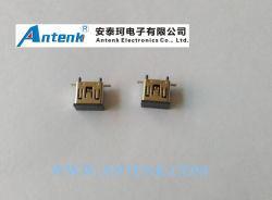 Mini USB 5p femelle connecteur vertical avec capuchon