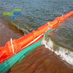 PVCオイルフェンスまたは工場直売のゴム製オイルフェンス