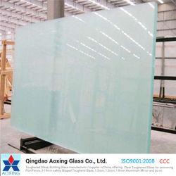 Faible architectural Fer/Super clair durci Crystal Clear pour façade de verre