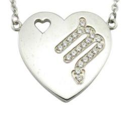Pendentif Coeur en acier inoxydable Zodiac Necklace Designs