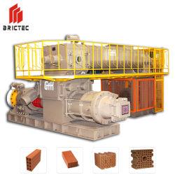 Étape vide double processus de brique en argile de la machine de l'extrudeuse