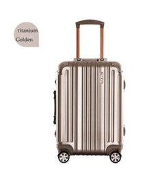 Bagages en aluminium d'affaires Boîtier métallique avec verrouillage des douanes TSA