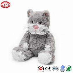 포근한 느낌의 부드러운 회색 고양이 토속 동물 선물 장난감