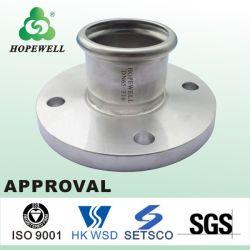 ステンレス鋼304 316のグルーブ溶接の首によって造られる管付属品のアダプターの出版物のフランジの垂直になる水ANSIの溶接Ssのスリップ