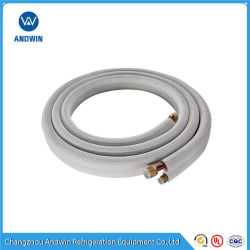 El tubo de cobre con aislamiento para aire acondicionado