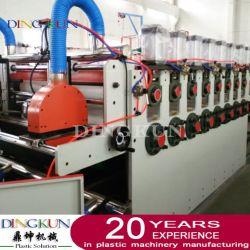 PVC de alta calidad de la placa de la corteza de madera de WPC / junta de espuma plástica extrusión de la hoja de máquina de hacer la producción de muebles de cocina Decoración