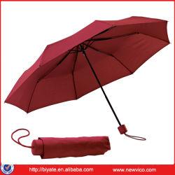 Comercio al por mayor Super Mini 3 veces más barato precio paraguas diseño cuadriculado o paraguas de color liso