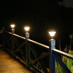 البوابة البيضاء الدافئة الخارجية 3 واط أضواء LED الشمسية