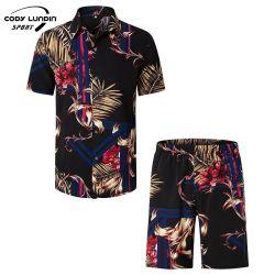 Cody Lundin Printed Design Lustige 100% Baumwolle Herren Tragen Hawaiian Kurzarm-Hemd Am Strand