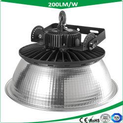 Indicatore luminoso all'ingrosso della baia del UFO LED della Cina 200W 200lm/W alto, torcia del LED