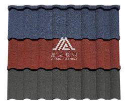 Dach-Aufbau-Blatt mit farbigem Steinbeschichtung-Stahlstein-überzogenem Dach-Fliese-idealem Baumaterial