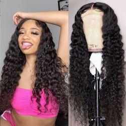 Großhandel Nerz 4X4 volle Spitze vorne Perücken Günstige brasilianische Jungfrau Haarverschluss Perücke 100% Natürliche Remy Menschliche Haarwücken