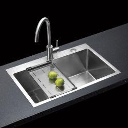 SC2003-Chine FOURNISSEURS SUS304 brosse en acier inoxydable Chrome Handmade Bassin de la cuisine évier grand évier unique