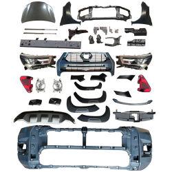 ملحقات السيارات أدوات تحويل هيكل السيارة المصد الأمامي لـ تويوتا هيلوكس فيغو 2008-2012 تغيير الترقية إلى 2021 ريفو روكو