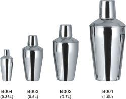 Barre classique en acier inoxydable Shaker à 350ml, 500ml, 700ml, 1000ml pour l'hôtel ou partie d'utiliser