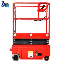 ミニ油圧リフトプラットフォームバッテリーパワーセルフ推進式シザーリフト