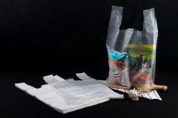 Main d'emballage des aliments en plastique Shopping Garbage Corbeille ordures gilet d'emballage T Shirt Sac