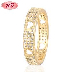 Juwelen van de Overeenkomst van het Ontwerp van de Man van de Ringen van de Vinger van het Roestvrij staal van de Vrouwen van de Ringen van de Zilveren bruiloft van de manier 18K 14K de Goud Geplateerde