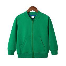 جمليًا 100% من القمصان الطويلة القطن الأطفال قمصان الأطفال Hoofie مع جيب مخصص طبعت كامل Zip الأطفال هودي