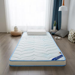 Dubbel van het Schuim van het Geheugen van het Broodje van Matras dik 6cm van het Bed van Dorm van de universiteit het Vouwbare Comfortabele