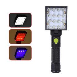 Luz recarregável LED, luzes de Spot de sabugo Lanterna de Mão com íman e pendurar 4 Modos de Flash Lanterna super brilhante