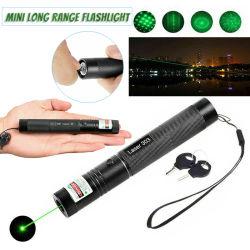 강력한 303 녹색 레이저 포인터 디스플레이 플래시 트래블 레이저 펜
