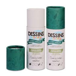 Пользовательские круглой печати бумага набор перьев питьевой трубочки благовоний упаковка Подарочная упаковка