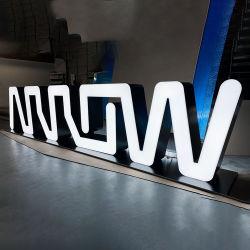 Venda por grosso negócio personalizadas canal luminoso de reversão de resina epóxida LED 3D acrílico Carta Assinar