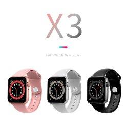 Novo Smartwatch 2021 Amazon Top Vendedor Sport X3 Assista à prova da Pulseira de baixo preço Smartwatch Monitor de freqüência cardíaca