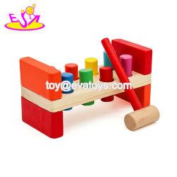 Het kleurrijke het Kloppen Stuk speelgoed van de Bank van de Lijst Houten Verpletterende voor Peuters W11g018