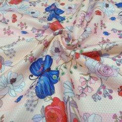 El patrón de flor de la impresión de espesor resistente al agua de la cortina de tela mantel de productos químicos