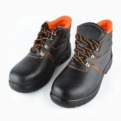 하이 컷 스틸 토우 슈 안전화 신발 블랙 가죽 안전 신발