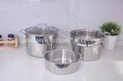 Set der Teigwaren-4PCS, Edelstahl-Küche-Ware, multi ZweckCookware für Induktion