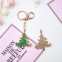 DIY 5D の卸し売りダイヤモンドの絵画のキーチェーンクリスマスツリーの金属ネックレス 冷蔵庫クリスタルダイヤモンドクラフト