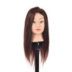 Mezclar la cabeza Maniqui pelo al por mayor de 20 pulgadas para la formación de la escuela de belleza Color 4