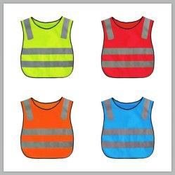Commerce de gros de vêtements Produits de sécurité Hi Viz Vêtements d'enfants Gilet réfléchissant