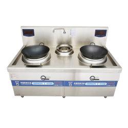 8kw alevins électromagnétique four double tête et queuedu matériel de cuisineavec cuisinière à induction électrique préparer l'incendie et de trame 50cm pots spéciaux
