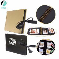 Quadratische Einklebebuch-Spirale - verklemmtes Farbband-Gleichheit-Foto-Album groß für Jahrestag des Fertigkeit-Papier-DIY, Hochzeit, Valentinsgruß-Tagesgeschenke